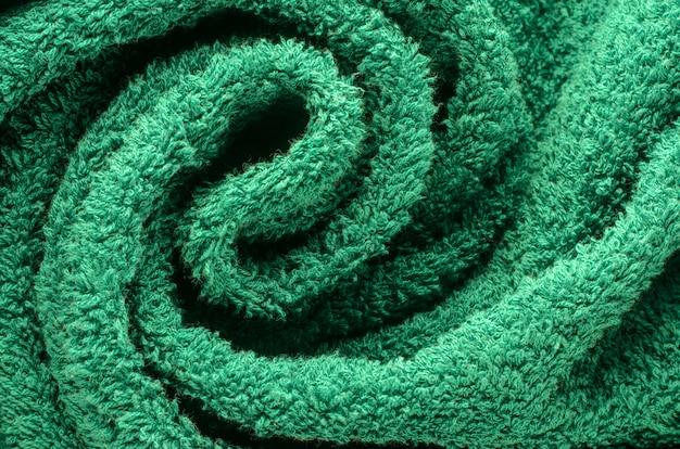Dichte omhooggaand van de handdoektextuur