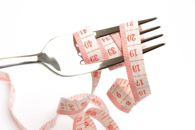 Dieet concept. afvallen en gezond eten