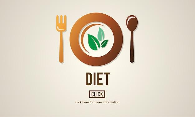 Dieet gezondheid voeding leven voedsel eten concept
