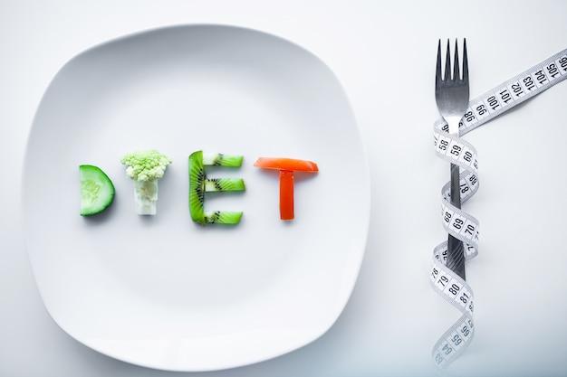 Dieet of gewichtscontrole concep