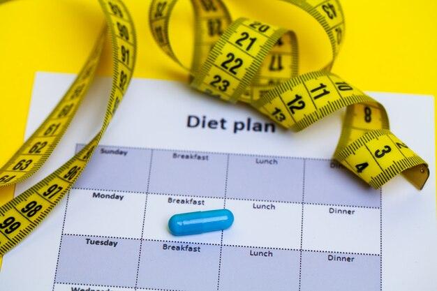Dieetplan en pillen van het gewichtsverlies