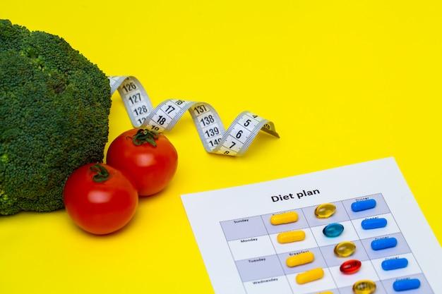Dieetplan voor gewichtsverlies pillen en verse groenten