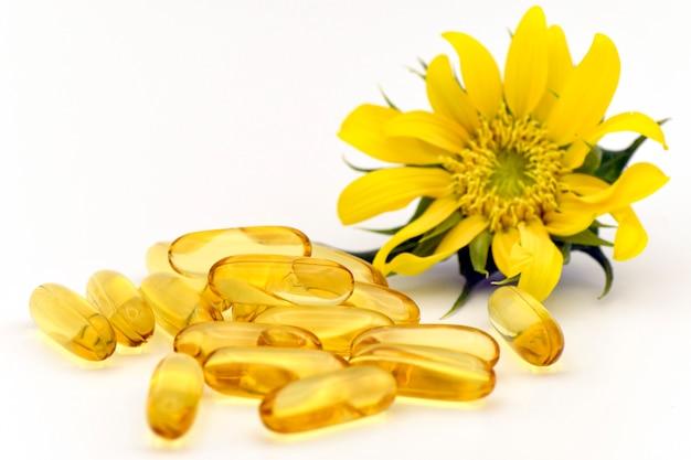 Dieetsupplementcapsule van natuurlijke ingrediënten.