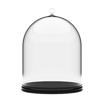 Dienblad met glass cover op een witte achtergrond. 3d-rendering.