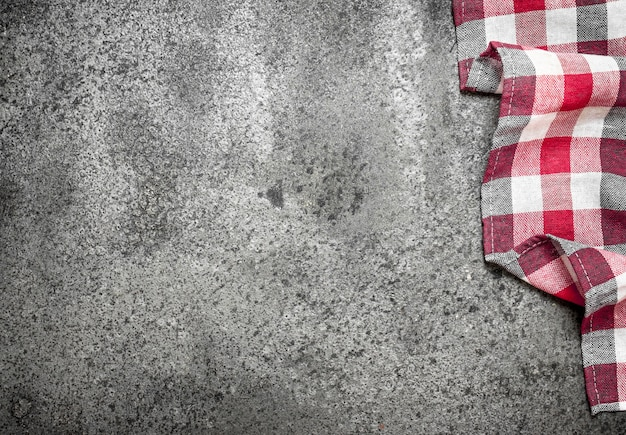 Dienende achtergrond. textiel servet.