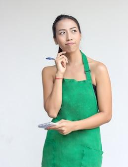 Dienst schort schort zakenvrouw