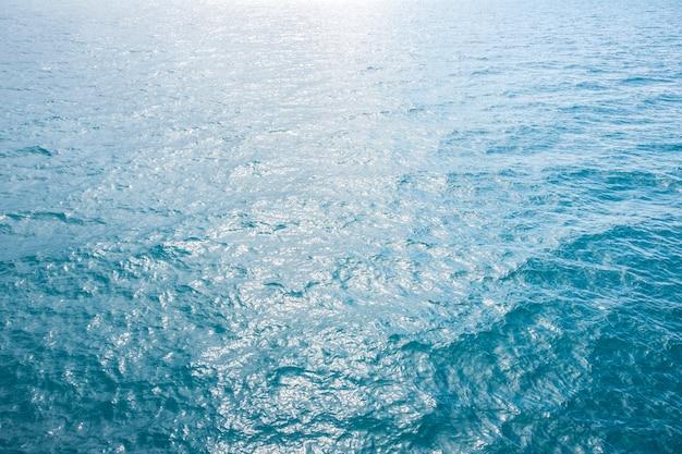 Diepe blauwe oceaangolven zachte oppervlakte, abstracte achtergrondpatroontextuur