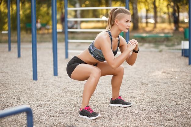 Diepe squat buiten