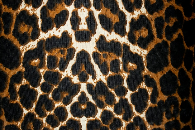 Dierenprint op canvas bonttextuur of achtergrond
