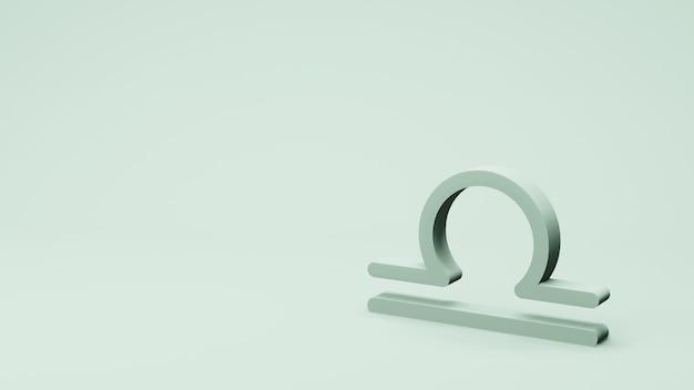 Dierenriem symbool weegschaal ondertekent 3d-rendering
