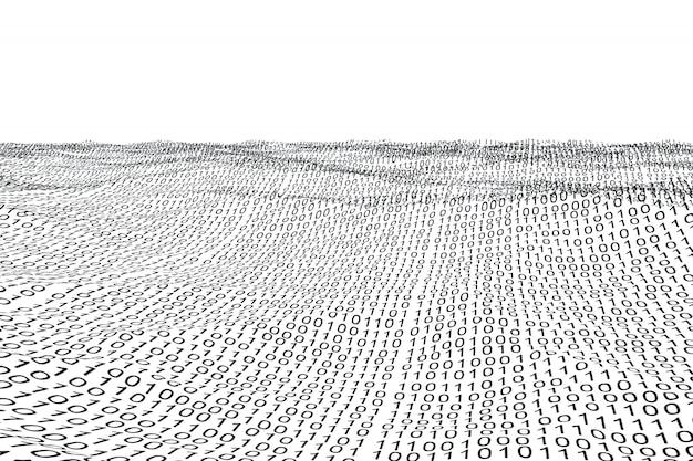 Digitaal gegenereerd binaire codelandschap