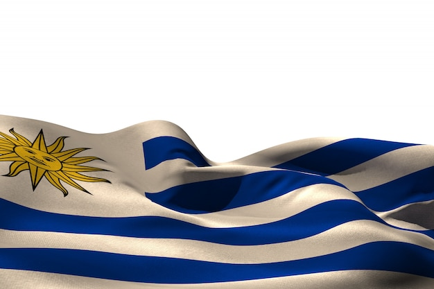 Digitaal gegenereerde uruguay vlag kabbelend