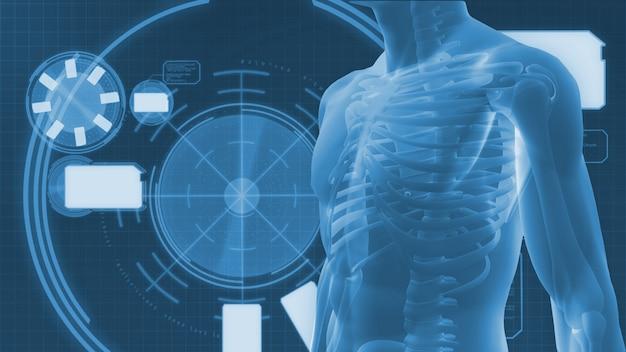 Digitaal lichaam op een digitale achtergrond
