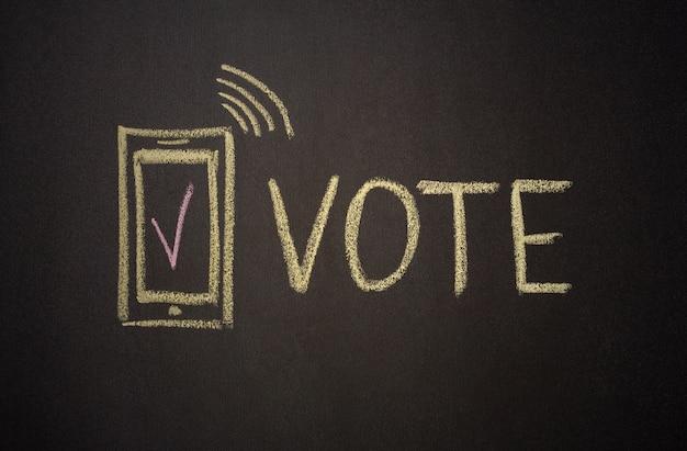 Digitaal stemconcept met krijt