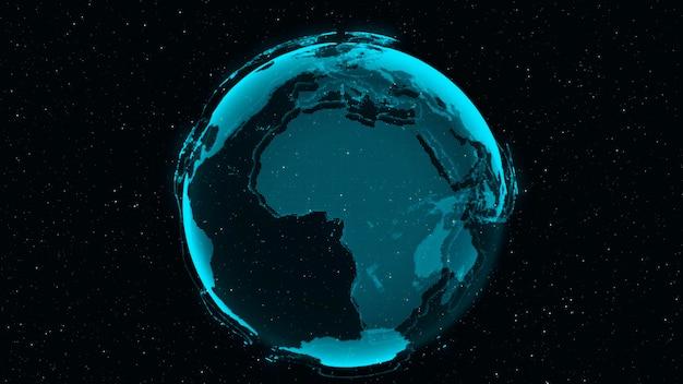 Digital earth toont concept van wereldwijd netwerk