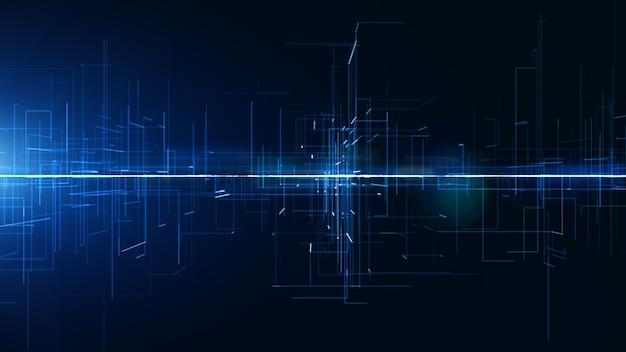 Digitale abstracte achtergrond digitale cyberspace