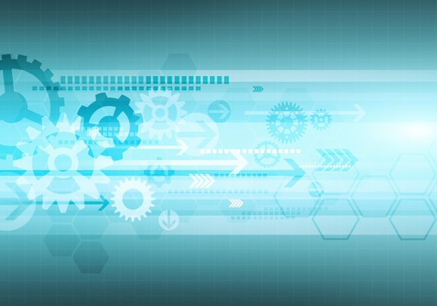 Digitale conceptuele gradiëntafbeelding zeshoek zakelijke technologie achtergrond