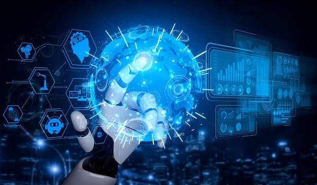 Digitale datamining en machine learning-technologieontwerp voor computerhersenen.