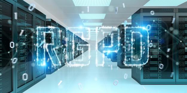 Digitale gdpr-interface in serverruimte