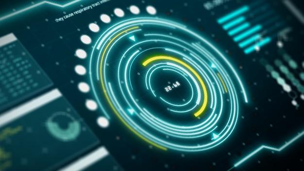 Digitale interface computerscherm