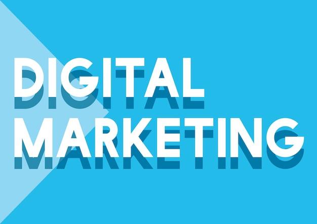 Digitale marketing commerciële advertentie sociaal concept