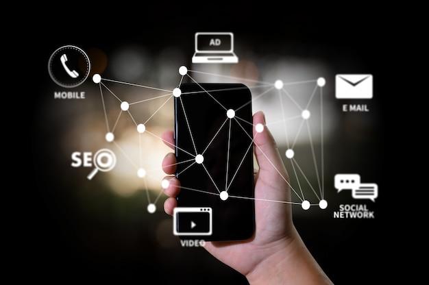 Digitale marketing nieuw opstartproject online zoekmachineoptimalisatie