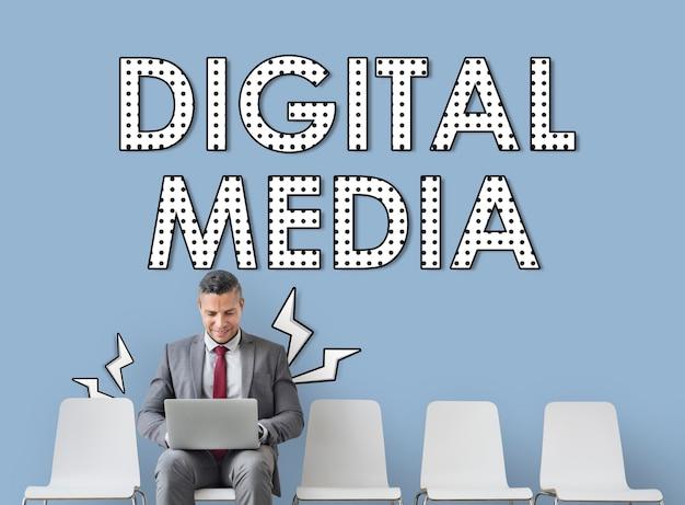 Digitale mediaverbinding informatietechnologie connection