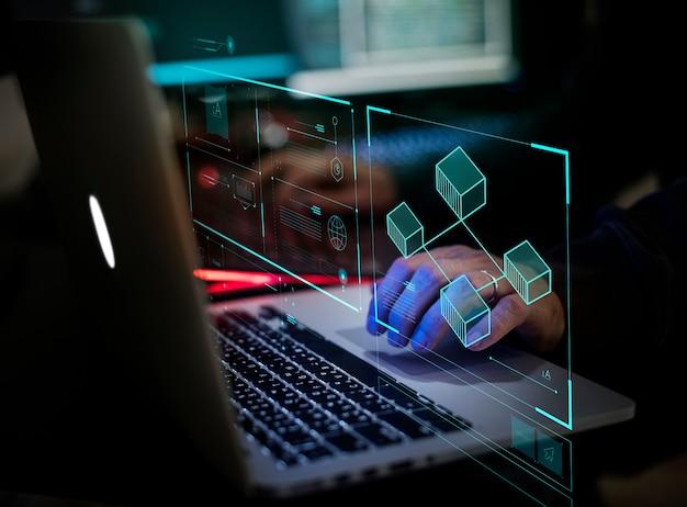 Digitale misdaad door een anonieme hacker