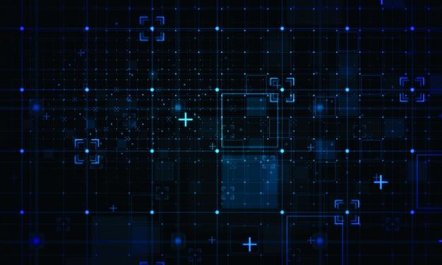 Digitale netachtergrond. bedrijfstechnologieconcepten