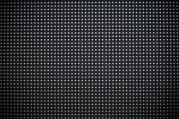 Digitale schermachtergrond. zwart scherm monitor of tv met pixels en leds close-up.