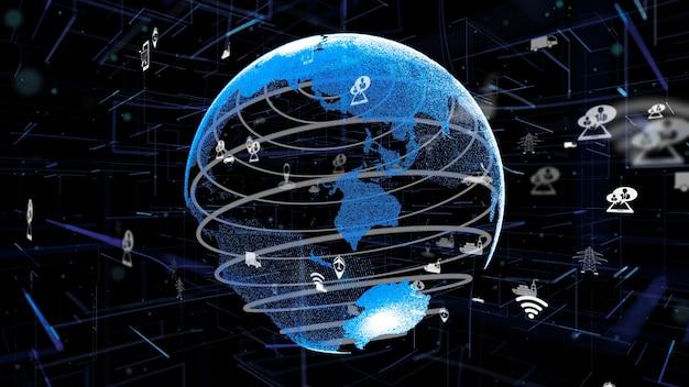 Digitale slimme transporttechnologie abstract