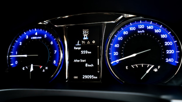 Digitale snelheidsmeter voor auto's