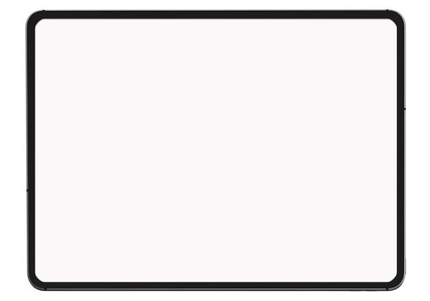Digitale tablet op witte achtergrond op witte achtergrond voor huidige reclame product of webpagina