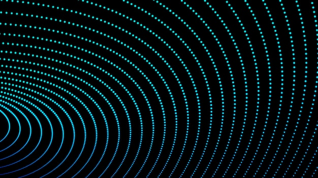 Digitale vloeiende golfdeeltjes abstracte achtergrond