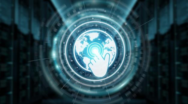 Digitale wereldkaart scherminterface