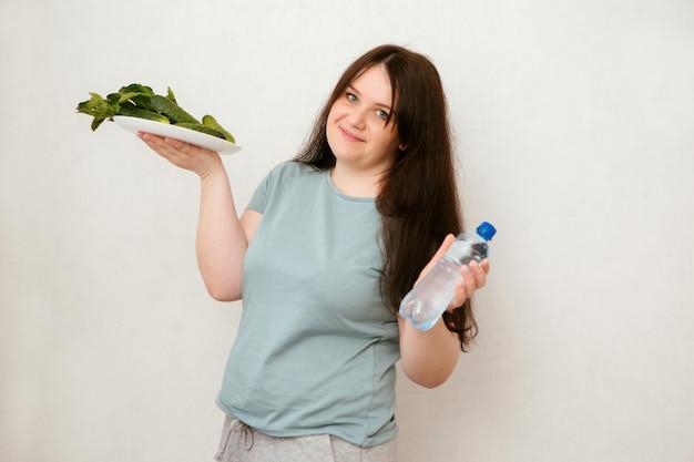 Dik meisje op dieet