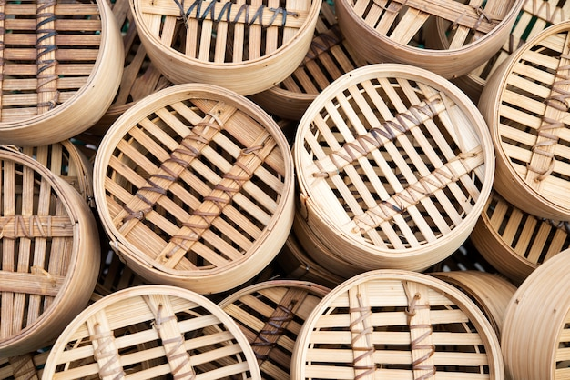 Dim sum bamboe manden