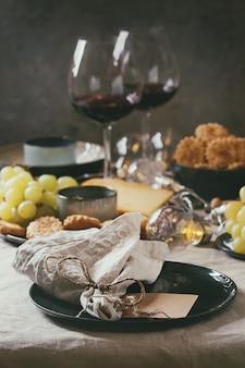 Diner gedekte tafel