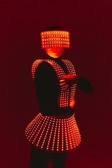 Disco danseres beweegt in uv-pak