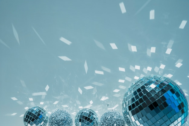 Discoballen en ornamentballen met glanst