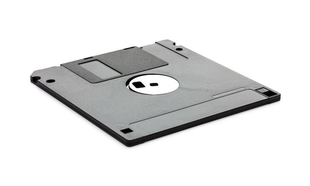 Diskette die op wit wordt geïsoleerd