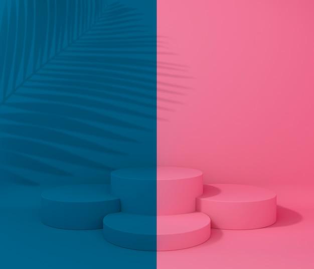 Display voor productpresentatie, tropische boomschaduw, twee kleuren