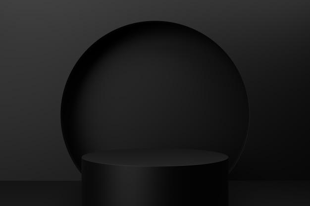 Displaystandaard ontwerp. 3d-weergave.