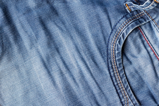 Distressed denim met voorvak