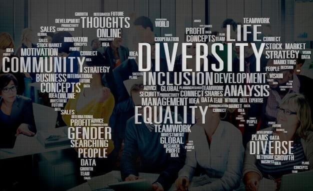 Divers equality gender innovation management concept