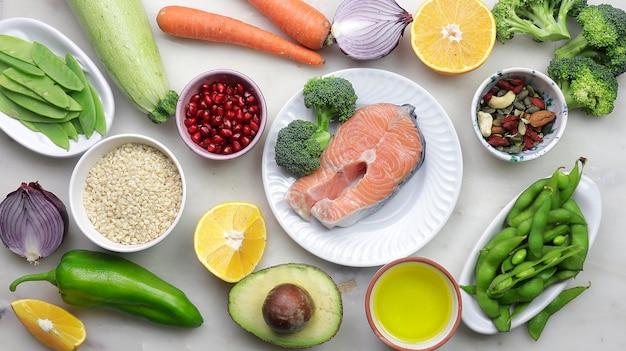 Diverse gezonde en superfoods