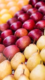 Diverse heerlijke vruchten hoog zicht