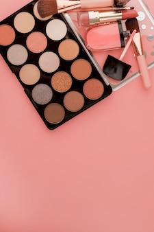 Diverse make-up productie roze
