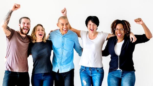 Diverse mensen met teamwork concept