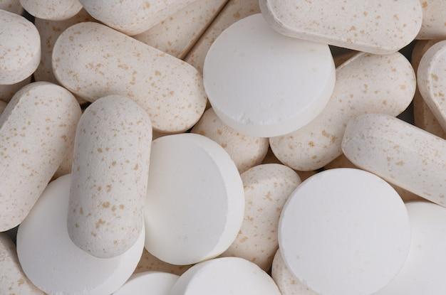Diverse pillen macro achtergrond